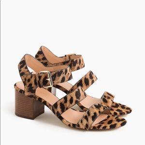J.crew leopard platform sandals sz:8.5 Animal